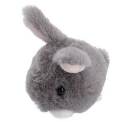 Kuscheltier Häschen, 11 cm, grau