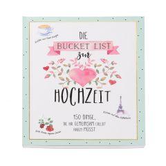 Buch Bucketlist Hochzeit, 20 cm