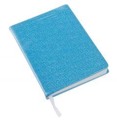 Notizbuch Glitter, blau, 12,5 x 18 cm