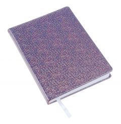 Notizbuch Glitter, lila, 12,5 x 18 cm