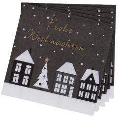 Serviette Haus/Weihnachten, 20 Stück