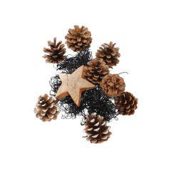 Potpourri Weihnachten, Stern, natur/schwarz, 250 g