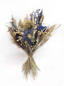 Trockenblumen-Box DIY, blau
