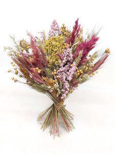 Trockenblumen-Box DIY, rosa