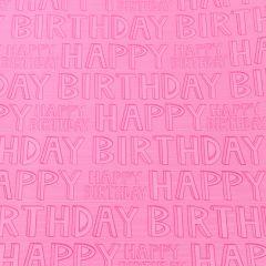 Geschenkpapier Happy Birthday, pink, 2 m