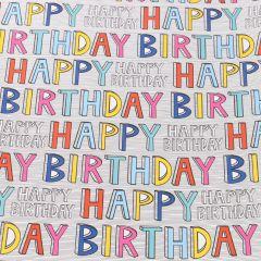 Geschenkpapier Happy Birthday, bunt, 2 m