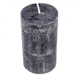 Kerze Rustik, Lara, schwarz, 12 cm