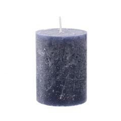 Kerze Rustik, Lara, rauchblau, 9 cm