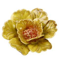 Blüte, breit, grobe Welle, gelb, 10.5 cm