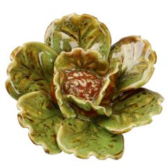 Blüte, breit, grobe Welle, grün, 10.5 cm
