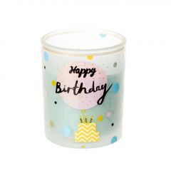 Kerze im Glas, Birthday, pastelltürkis