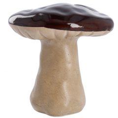 Pilz Glanz, flach/dunkelbraun, 16 cm