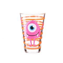 Trinkglas Monster, pink, 310 ml