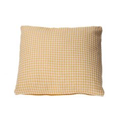Kissen Wabenmuster, gelb/weiß, 45 x 45 cm