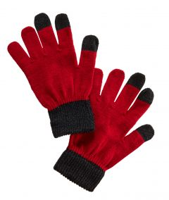 Handy-Handschuhe, rot/schwarz