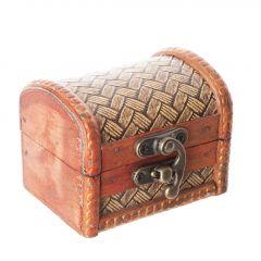 Box Emma, Rattan, braun, 8 cm