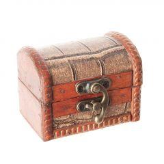 Box Emma, Reptil, braun, 8 cm