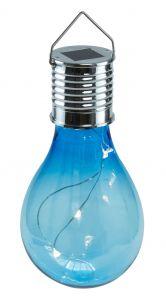 Solar-Birne, hängend, blau
