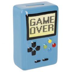 Spardose Gameover, blau, 11 cm