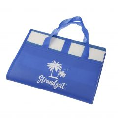 Strandmatte Strandzeit, blau, 90 x 180 cm