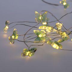 LED-Lichterkette Schmetterling, türkis, 15 LED's