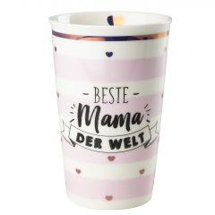Becher Leonie, Mama/Streifen, rosa, 400 ml