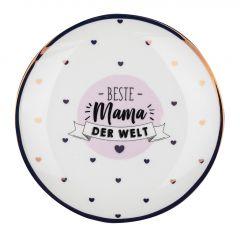 Teller Leonie, Mama/Kreis, rosa, 19 cm