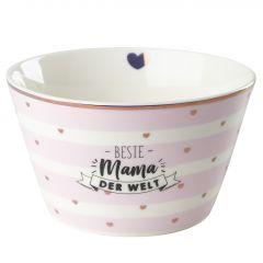 Müslischale Leonie, Mama/Streifen, rosa, 13 cm
