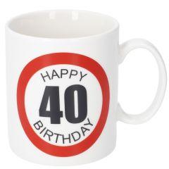 Becher Geburtstag XL, 40, 400 ml