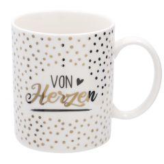 Becher Anlass/Dots, Von Herzen, 300 ml