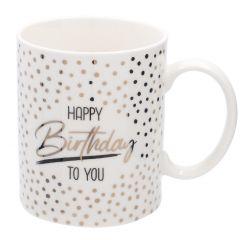 Becher Anlass/Dots, Happy Birthday, 300 ml