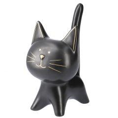 Katze Lilly, stehend, schwarz, 19 cm