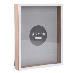 Rahmen Modern, 20 x 25 cm, weiß/natur