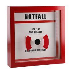 Rahmen Notfall für Gutschein, 21 x 21 cm