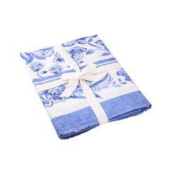 Tischdecke Mina, blau/weiß, 150 x 200 cm