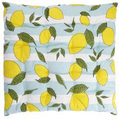 Stuhlkissen Frucht, Zitrone gestreift, 40 x 40 cm