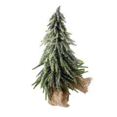 Deko-Tannenbaum Juteballen, Schnee, 35 cm