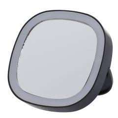 LED-Spiegel, schwarz, 8 x 8 cm