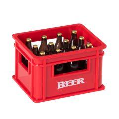 Flaschenöffner Bierkiste, rot, 3,5 cm