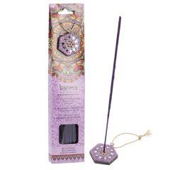 Räucherstäbchen mit Halter, Lavendel/lila, 40 Stück
