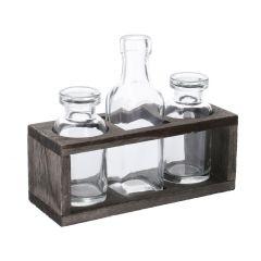 Flaschen-Vase in Holzbox