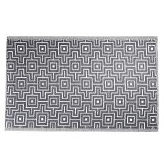 Teppich Outdoor, labyrinth schwarz/weiß, 120 x 180 cm