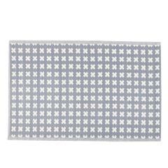 Teppich Outdoor, Kreuz grau/weiß, 120 x 180 cm