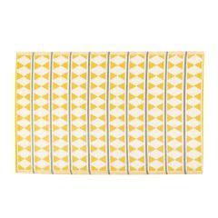 Teppich Outdoor, Dreieck gelb/weiß, 120 x 180 cm