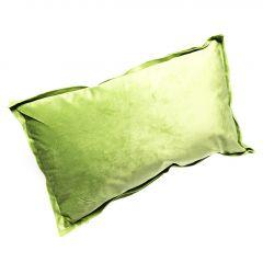 Kissen Samt, Stehsaum, grün, 30 x 50 cm