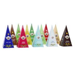 12er Set Tee Pyramide, Klassik, 24 g
