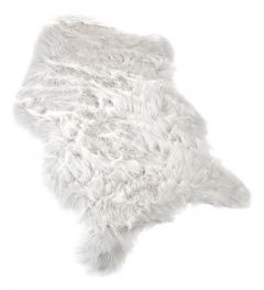 Kunstfell Farbig, weiß, 65 x 88 cm