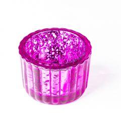 Teelichthalter Antik, pink, 6 x 4 cm