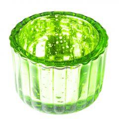 Teelichthalter Antik, grün, 6 x 4 cm