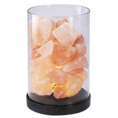 LED-Leuchte, Salzkristalle, 14,5 cm